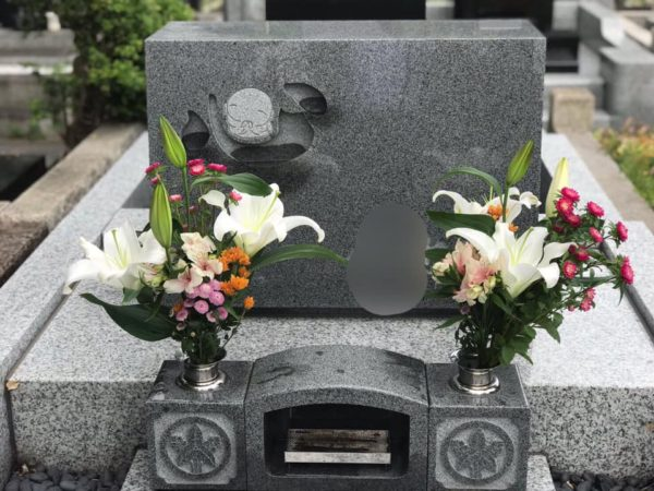 じぞうもじ墓石